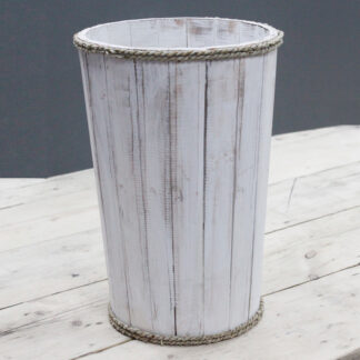 Lrg Nautical Display Tub - Whitewash 45x32cm