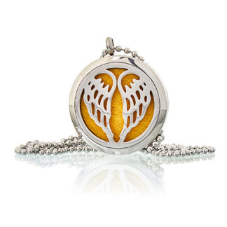 Aromatherapy Diffuser Necklace - Angel Wings 30mm