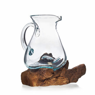 Molten Glass on Wood- Water Jug