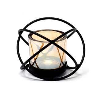 Centrepiece Iron Votive Candle Holder - 1 Cup Single Ball