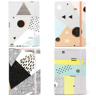 Cool A5 Notebook - Assorted Designs - Golden Abstract