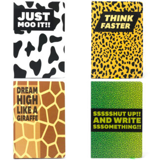 Cool A5 Notebook - Assorted Designs - Animal Encouragement