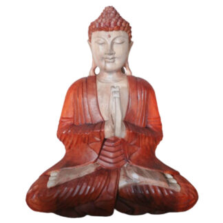 Hand Carved Buddha Statue - 40cm Welcome