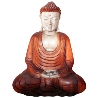 Hand Carved Buddha Statue - 40cm Hand Down