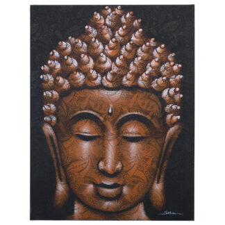 Buddha Painting - Copper Brocade Detail