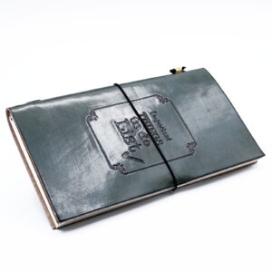 Handmade Leather Journal - Important Things To Do - Grey (80 pages)