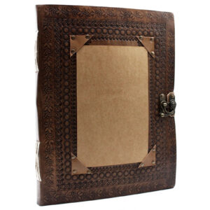 Huge Customisable Visitor Leather Book 10x13 (200 pages)