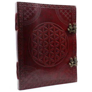 Huge Flower of Life Leather Book 10x13 (200 pages)