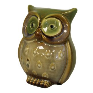 Ceramic Owl Bank - Green
