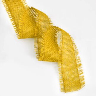 Yellow Jute Ribbon 10meter x 6cm