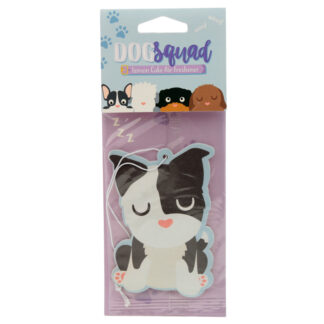 Dog Squad Black  and  White Dog Lemon Cake Scented Air freshener