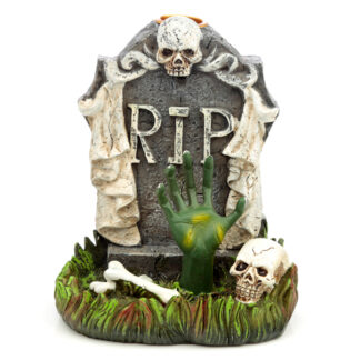 Backflow Incense Burner - RIP Zombie Hand Tombstone