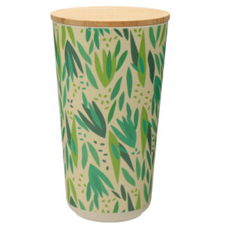 Large Bamboo Composite Storage Jar Willow
