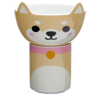 Children's Porcelain Mug and Bowl Set - Cutiemals Shiba Inu Dog