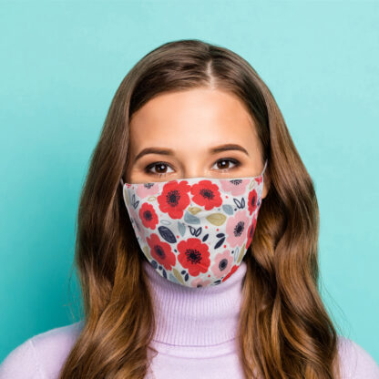Poppy Fields Reusable Face Covering - Large