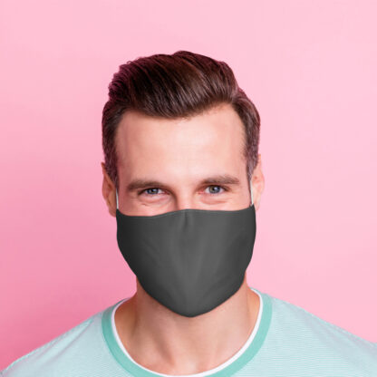 Grey Reusable Face Covering - Large