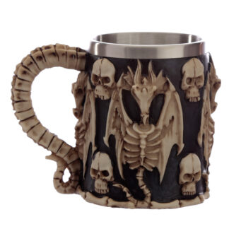 Decorative Skull and Dragon Tankard