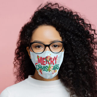 Festive Friends Merry Christmas Reusable Face Covering - Large