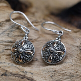 Silver & Gold Earring - Classic Round