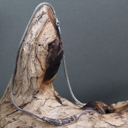 Silver & Gold Necklace - Tribal