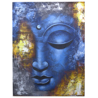 Buddha Painting - Blue Face Abstract