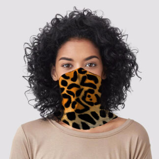 Leopard Animal Print Neck Scarf Face Covering