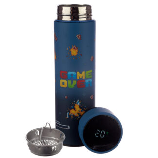 Game Over Stainless Steel Digital Thermometer Insulated Drinks Bottle