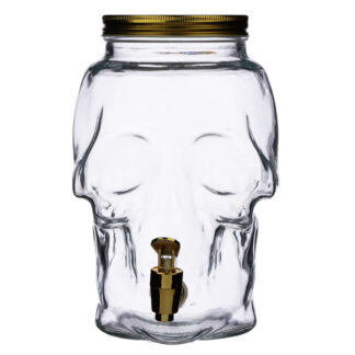 Skull Shaped Water Decanter 2.6L - Skulls  and  Roses