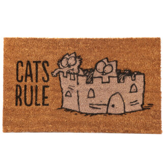Simon's Cat Coir Door Mat - Cat's Rule