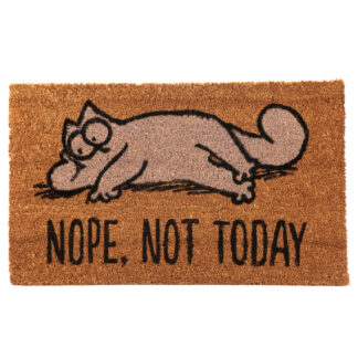 Simon's Cat Coir Door Mat - Nope Not Today