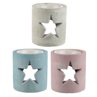 Concrete Christmas Star Oil Burner