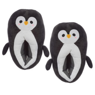 Cute Penguin Unisex One Size Pair of Plush Slippers