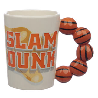 Fun Basket Ball Shaped Handle Ceramic Mug