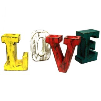 One Set of Big Letters - LOVE - Assorted Colours