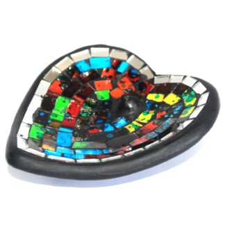 Moroccan Mosaic Heart Incense Holder