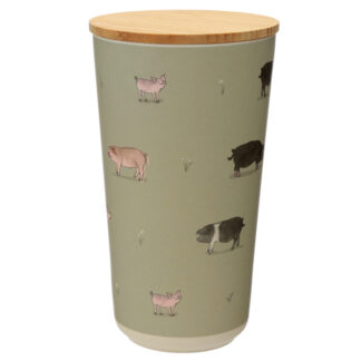 Large Bamboo Composite Storage Jar Willow Farm