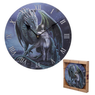 Dragon  and  Unicorn Protector Magick Lisa Parker Wall Clock