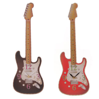Fun Novelty Rock Guitar Shaped Wall Clock