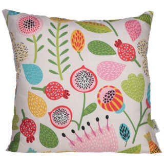 Cushion with Insert - Autumn Floral Design 50 x 50cm
