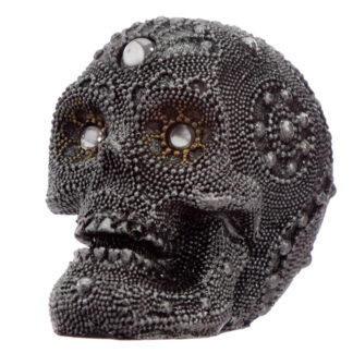 Fantasy Beaded Small Skull Ornament