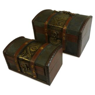 Sets of 2 Colonial Boxes - Metal Embossed