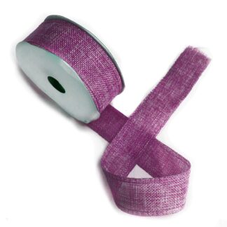 Natural Texture Ribbon 38mm x 20m - French Lavender