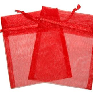 Med Organza Bags - Red