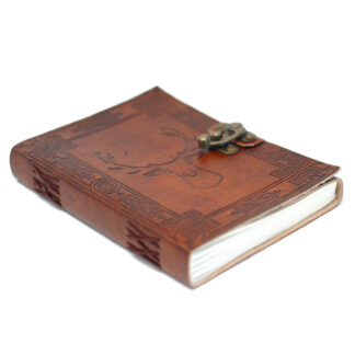 """Leather Stag Notebook (6x8"""")"""