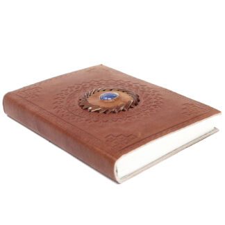 """Leather Lapis Notebook (7x5"""")"""
