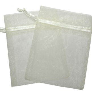 Small Organza Bags - Ivory