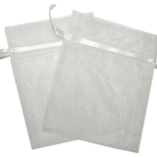 Med Organza Bags - White