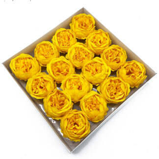 Craft Soap Flower - Ext Large Peony - Yellow