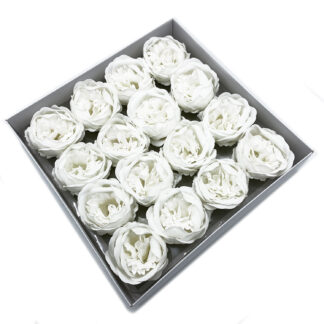 Craft Soap Flower - Ext Large Peony - White