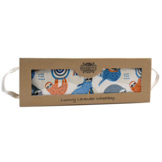 Luxury Lavender  Wheat Bag in Gift Box  - Lazy Sloth